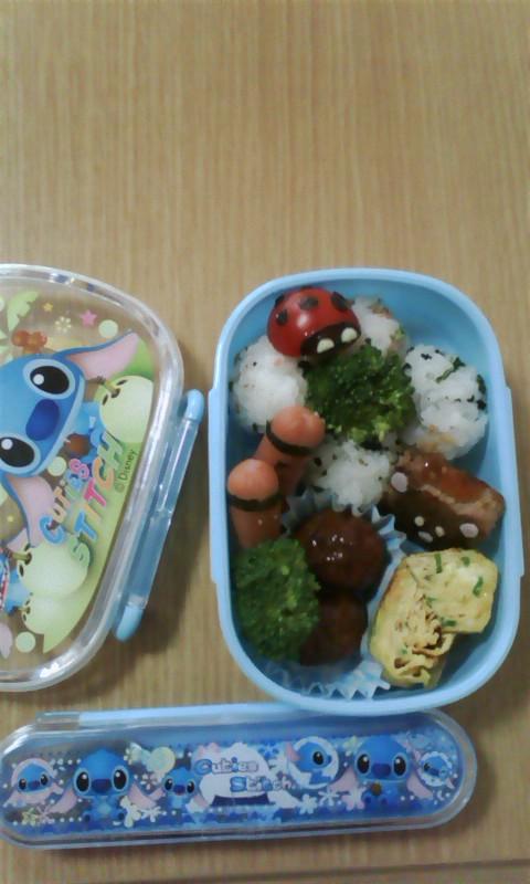 かわいいお弁当できました(*^o^*)